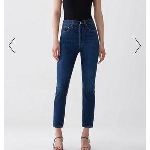 Agolde Riley Hi Rise Jeans in Desolate
